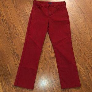 NYDJ | Red Straight Leg Jeans